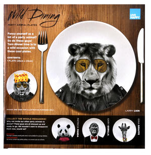 Larry Lion - Wild Dining 23cm Porcelain Party Animal Plate Thumbnail 3