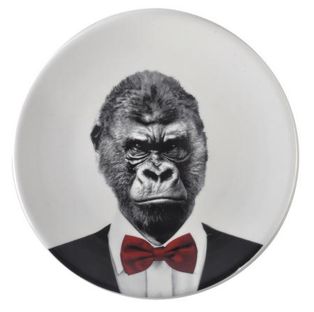 Gary Gorilla - Wild Dining 23cm Porcelain Party Animal Plate