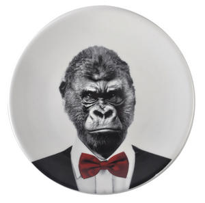 Gary Gorilla - Wild Dining 23cm Porcelain Party Animal Plate