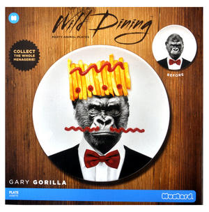 Gary Gorilla - Wild Dining 23cm Porcelain Party Animal Plate Thumbnail 2