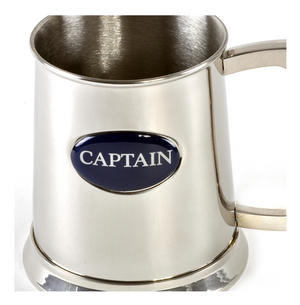 Captain Tankard in Heavy Polished Stainless Steel Thumbnail 2