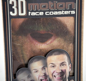 3D Motion Face Coasters - 10 Different Animated Faces Thumbnail 3