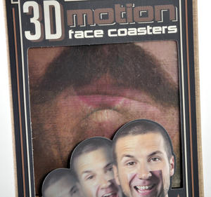 3D Motion Face Coasters - 10 Different Animated Faces Thumbnail 4