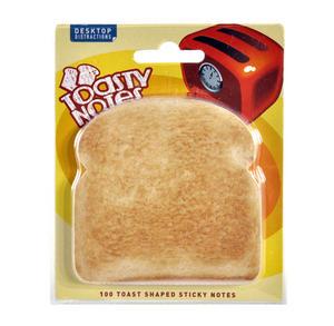 Toasty Notes - 100 Toast Shaped Sticky Notes Thumbnail 1