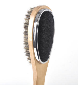 3 in 1 Natural Beech Clothes Brush with Lint Remover Thumbnail 1
