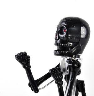Boxing Skeleton Pen with Red LED Eyes - Black or White randomly selected