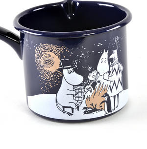 Moomin Winter Romance - Moomin Muurla Enamel Blue 1.3L Saucepan Thumbnail 2