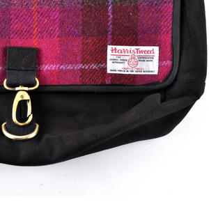 Harris Tweed Cerise Tartan Despatch Bag Thumbnail 2