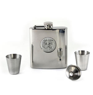 Footballer - 6oz Hip Flask Presentation Football Box Set with Funnel & Two Cups Thumbnail 4