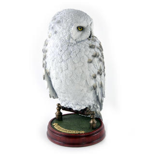 "Hedwig -  Handpainted Sculpture 9.5"" Noble Collection Harry Potter Replica Thumbnail 3"