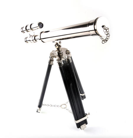 Double Barrel Telescope on Tripod Stand