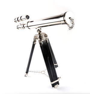 Double Barrel Telescope on Tripod Stand Thumbnail 1