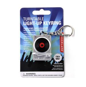 Turntable Light Up LED Keyring for DJs