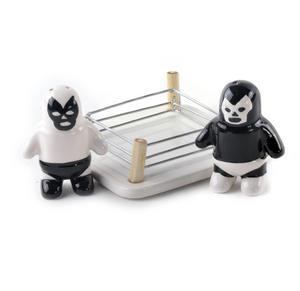 Luchador Salt Vs Pepper Shakers
