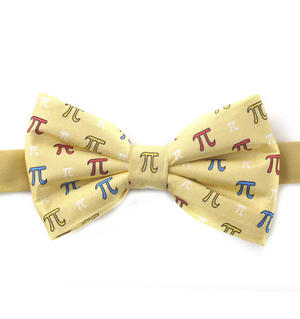 Pythagoras Bow Tie with Pi Design Thumbnail 1