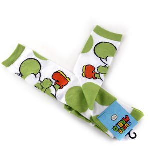Super Mario Brothers Yoshi Kneehigh Socks Thumbnail 1