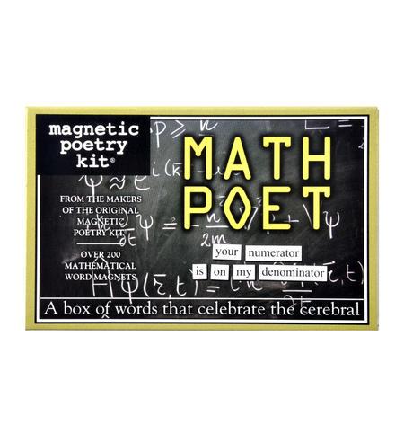 Math Poet Fridge Magnet Poetry Set - Mathematician Fridge Poetry