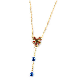 Hermione Granger's Red Crystal Necklace - Harry Potter Noble Collection Replica Costume Jewellery Thumbnail 1