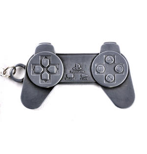 Metal Play Station - Moulded PlayStation Keyring