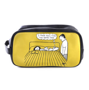 I Think You'll Find the Sofa's Free - Off the Leash Washbag /  Make Up Bag by Rupert Fawcett