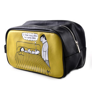 I Think You'll Find the Sofa's Free - Off the Leash Washbag /  Make Up Bag by Rupert Fawcett Thumbnail 2