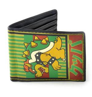Nintendo Super Mario Brothers Bowser Kanji Wallet Thumbnail 1