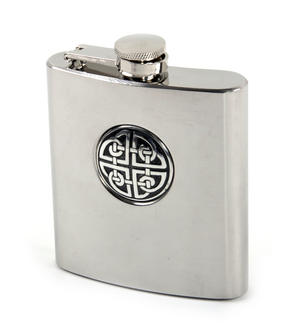 Celtic Knot - 6oz Hip Flask Presentation Box Set with Funnel & Two Cups Thumbnail 3