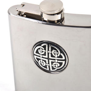 Celtic Knot - 6oz Hip Flask Presentation Box Set with Funnel & Two Cups Thumbnail 4