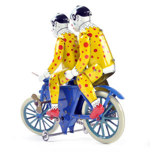 The Two Tin Tandem Clowns  - Classic Clockwork Collector's Toy Thumbnail 5