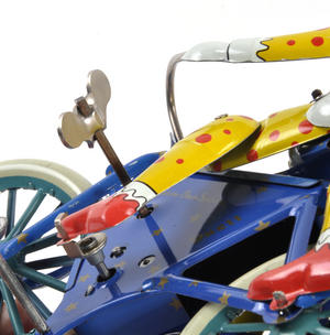 The Two Tin Tandem Clowns  - Classic Clockwork Collector's Toy Thumbnail 7