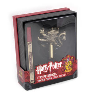 Harry Potter Gryffindor Gold Finish Pen Set Noble Collection Thumbnail 5