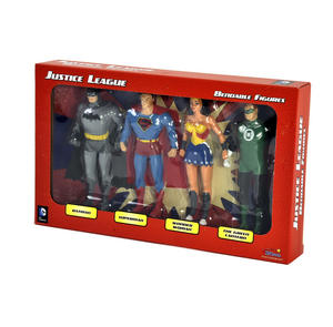 Justice League Bendable Action Figures Set - Batman / Green Lantern / Wonder Woman / Superman