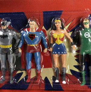Justice League Bendable Action Figures Set - Batman / Green Lantern / Wonder Woman / Superman Thumbnail 2