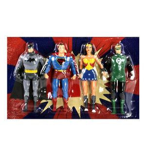 Justice League Bendable Action Figures Set - Batman / Green Lantern / Wonder Woman / Superman Thumbnail 3