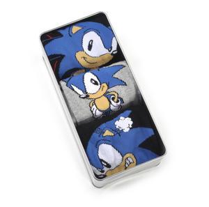 Sonic the Hedgehog Socks - 3 Pairs of Sonic Socks in Metal Presentation Box Thumbnail 2