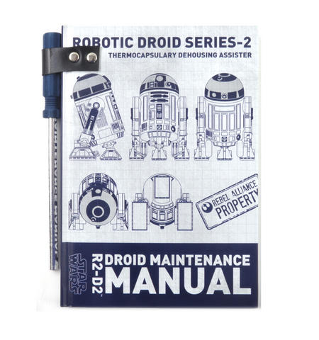 Star Wars R2 D2  Droid Maintenance Manual Notebook