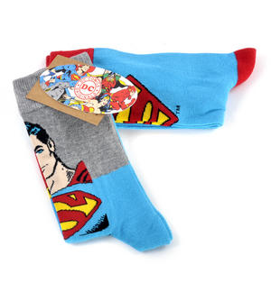 Superman Socks Full Body & Logo Socks - 2 Pairs Thumbnail 1