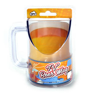 TV Beer Mug - Keep watching while drinking!
