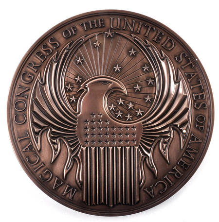 Fantastic Beasts M.A.C.U.S.A. Emblem Wall Art- Newt Scamander Fantastic Beasts - Noble Collection Replica