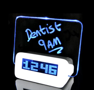 Scribble Clock - Midnight Memo LED Alarm Clock Thumbnail 1