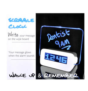 Scribble Clock - Midnight Memo LED Alarm Clock Thumbnail 3