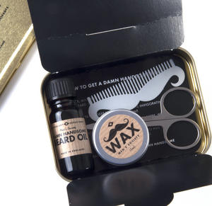 Damn Handsome Beard Kit - Handmade Small Batch Production from The Men's Society Apothecary Department Thumbnail 1