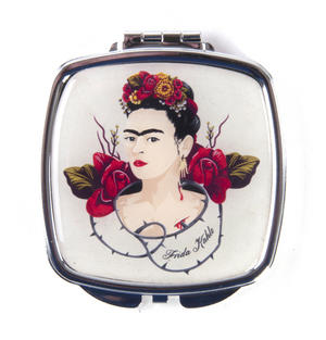 Frida Kahlo Rose Thorns Compact Pocket Handbag Mirror