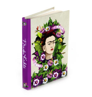 Frida Kahlo - Frida Flowers A6 Hardback Notebook Thumbnail 1