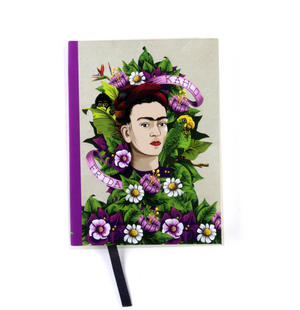 Frida Kahlo - Frida Flowers A6 Hardback Notebook Thumbnail 2