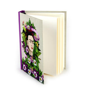 Frida Kahlo - Frida Flowers A6 Hardback Notebook Thumbnail 4