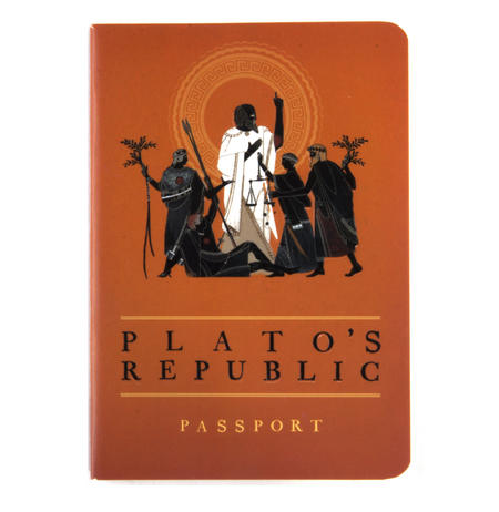 Plato's Republic Passport - Ancient Greek Pocket Notebook