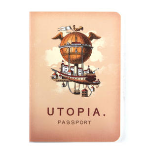 Utopia Passport - Perfect Pocket Notebook Thumbnail 1