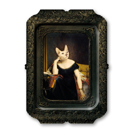 Victoire -Visconti - Galerie De Portraits - Surreal Wall Tray Art Masterwork by iBride