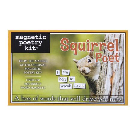 Squirrel Poet - Fridge Magnet Set - Fridge Poetry